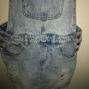 Dickie's Jean overall skirt